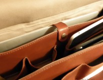 Romeo leather bag computer compartment