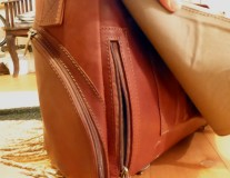 Romeo leather bag side bag for documents and ID card